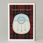 Image of 30th Birthday kilt card