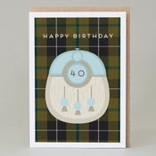 Image of 40th Birthday kilt card