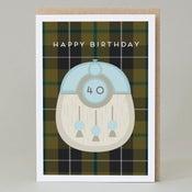 Image of 40th Birthday kilt card