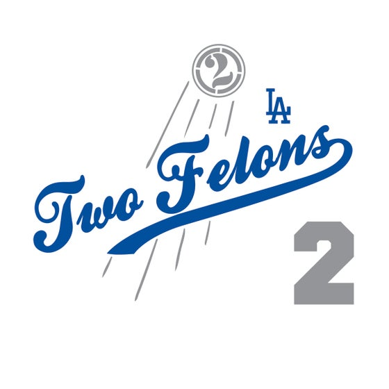"""Image of Two Felons """"Play Ball"""" (wht/nvy/gry)"""