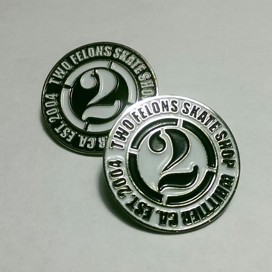 """Image of Two Felons """"Est.04"""" Pin"""