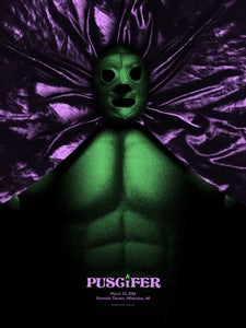 Image of Puscifer poster Milwaukee WI. 11/08/15