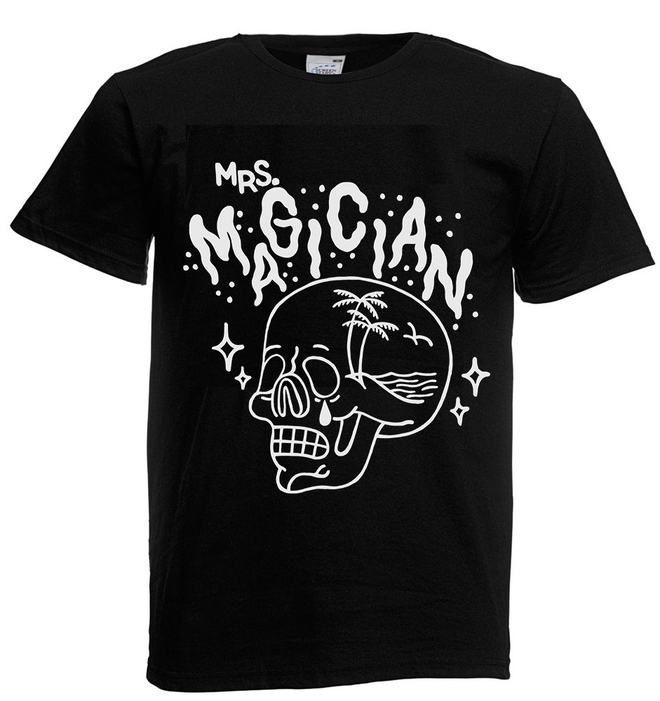 "Image of Mrs Magician – ""Skull"" Black Tee"