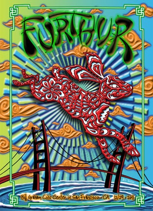 Image of Furthur New Years 12/29/2011 Lenticular