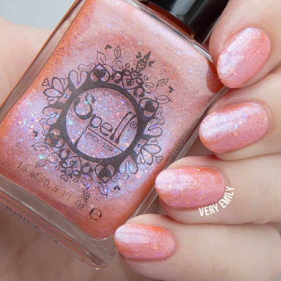"Image of ~Riding on Coattails~ baby pink glitter shimmer Spell nail polish ""Legends & Dreams""!"