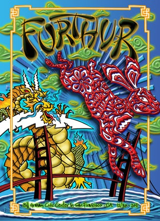 Image of Furthur New Years 12/30/2011 Lenticular