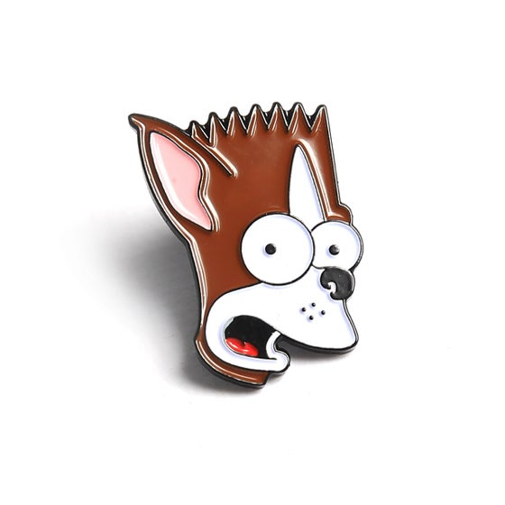 "Image of Bartstonterrier Winston 1"" soft enamel pin"
