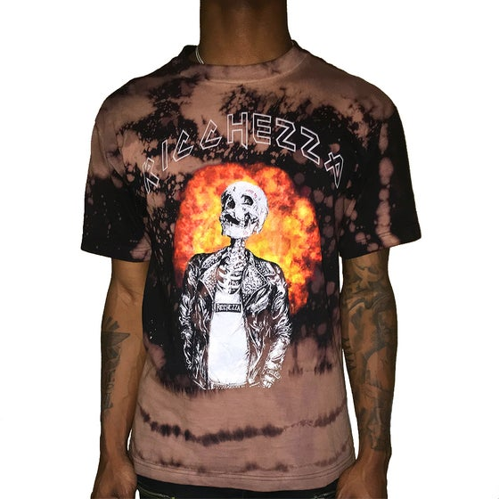 "Image of ""Skull & Flames"" Blended Band Tee (Blended Black)"