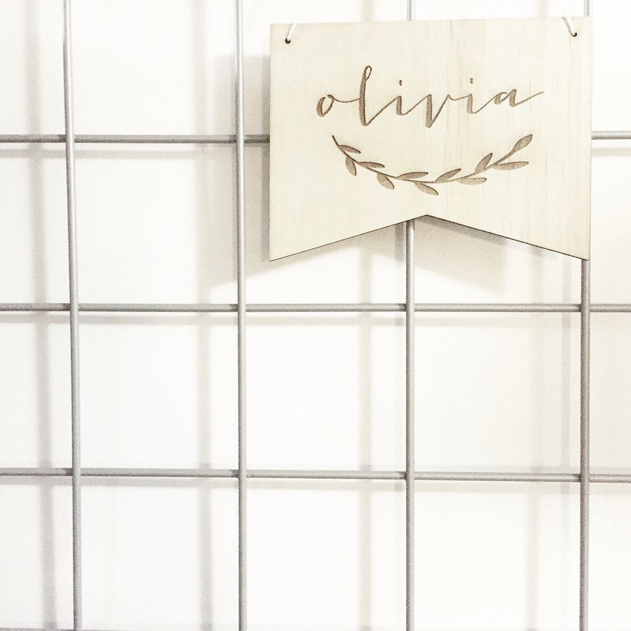 Image of ETCHED NAME BANNER