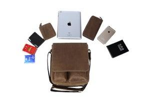 Image of Handmade Superior Crazy Horse Leather Messenger Bag Satchel / iPad Bag (n51)