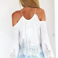 Image of Sexy Lace Sleeveless Blouse