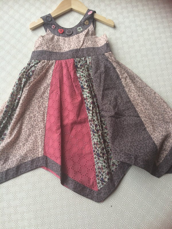 Image of Girls Patchwork Dress