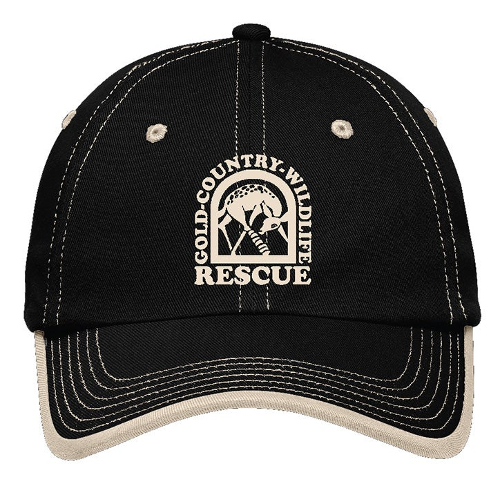 Image of Cap with GCWR logo in Black/Stone or Stone/Black