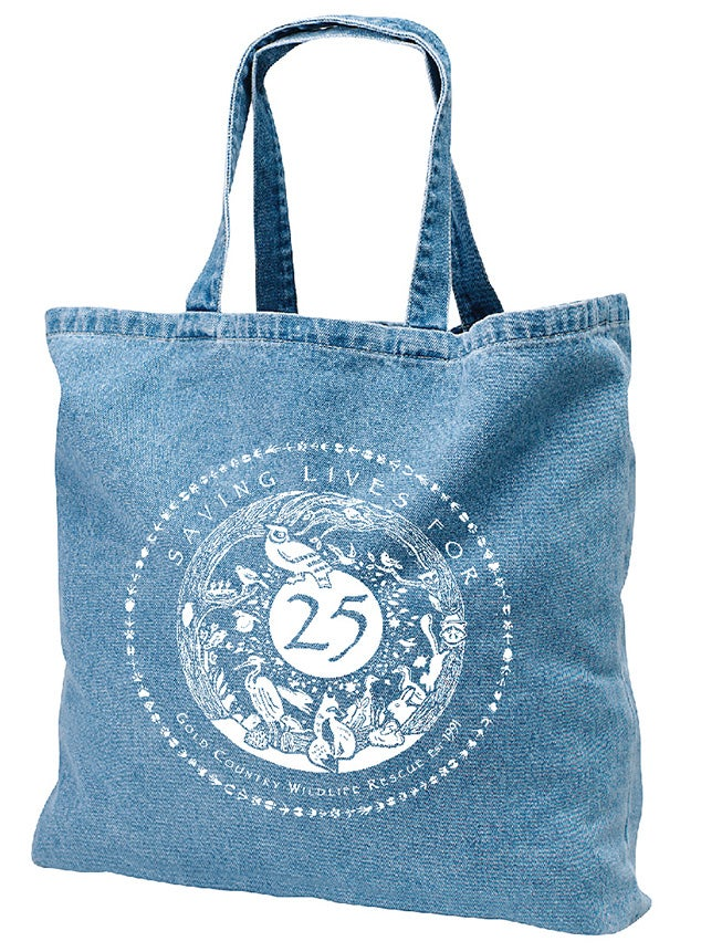 Image of Tote Washed Denim with Special GCWR 25th Anniversary Logo