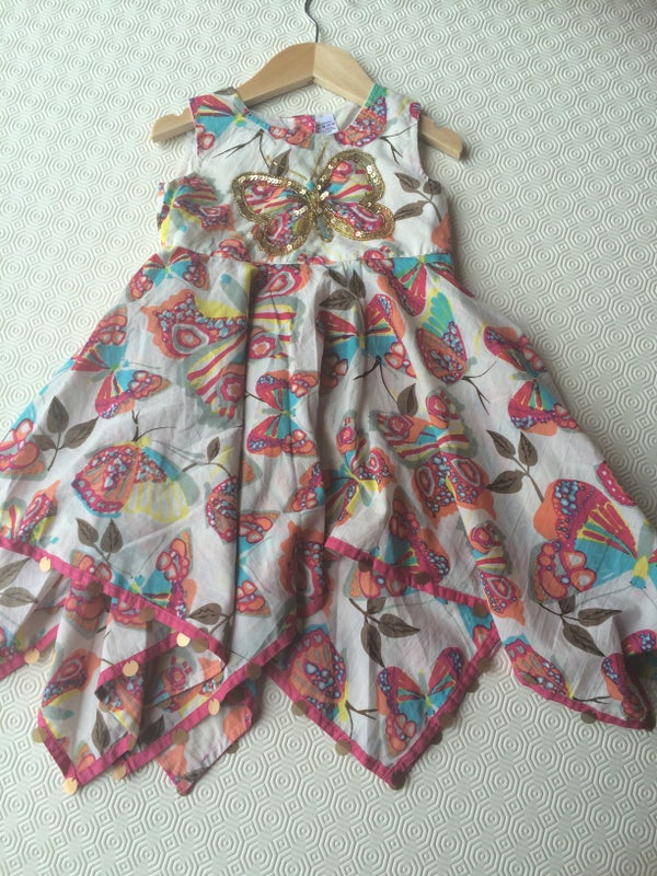 Image of Girls Sequin Butterfly Dress