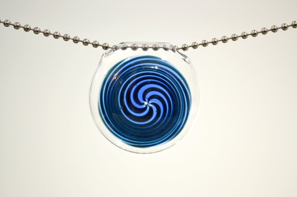 Image of Blue Spiral Pendant