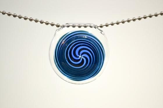 Image of Blue Spiral Pendant