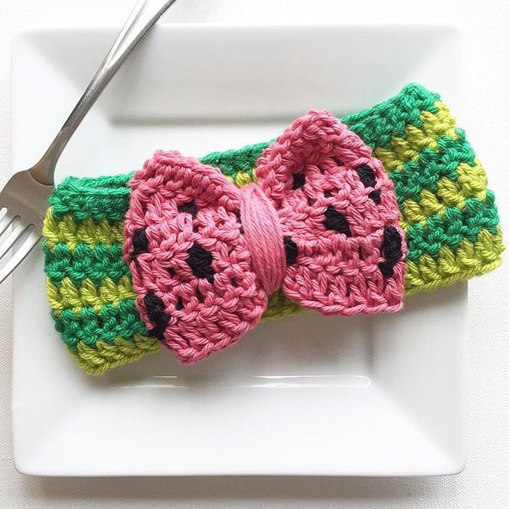 Image of Watermelon bow headwrap