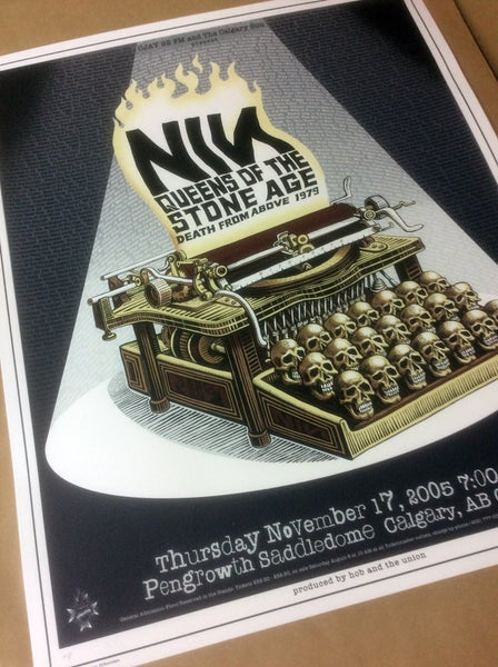 "Image of NIN/QOTSA ""Skull Typewriter"" by Emek"