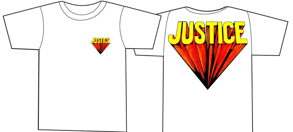 Image of JUSTICE 'super' shirt ATHLETIC GREY