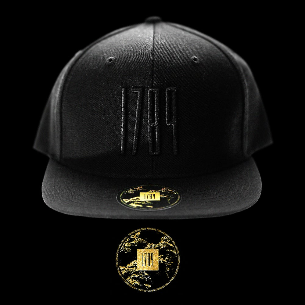 Image of 1789 Black on Black Snapback
