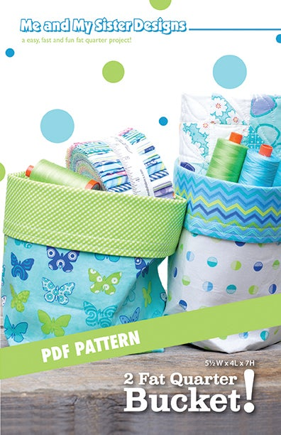 Image of 2 Fat Quarter Bucket! PDF pattern