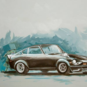 Z, Before Original Painting - Matt Q. Spangler Illustration