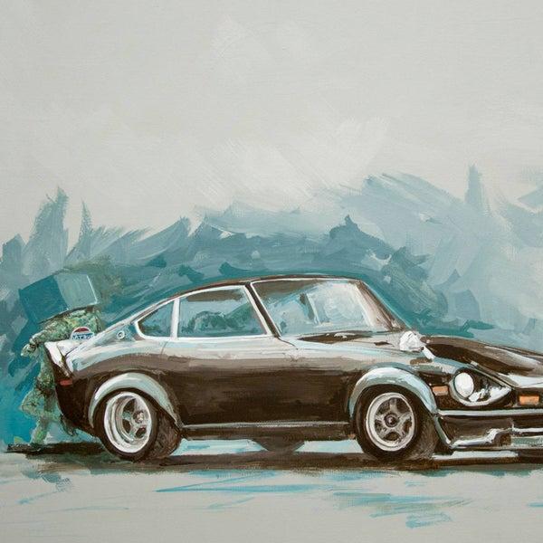 Z, Before Original Painting - Matt Q. Spangler Illustration