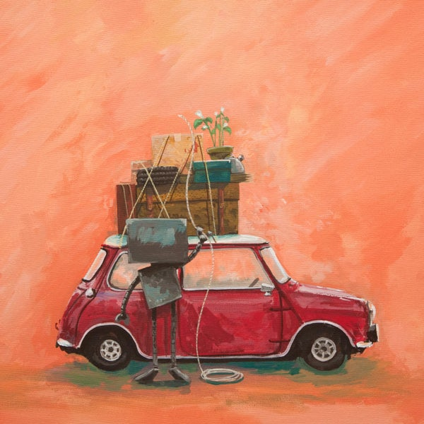 Mini Adventure Painting - Matt Q. Spangler Illustration