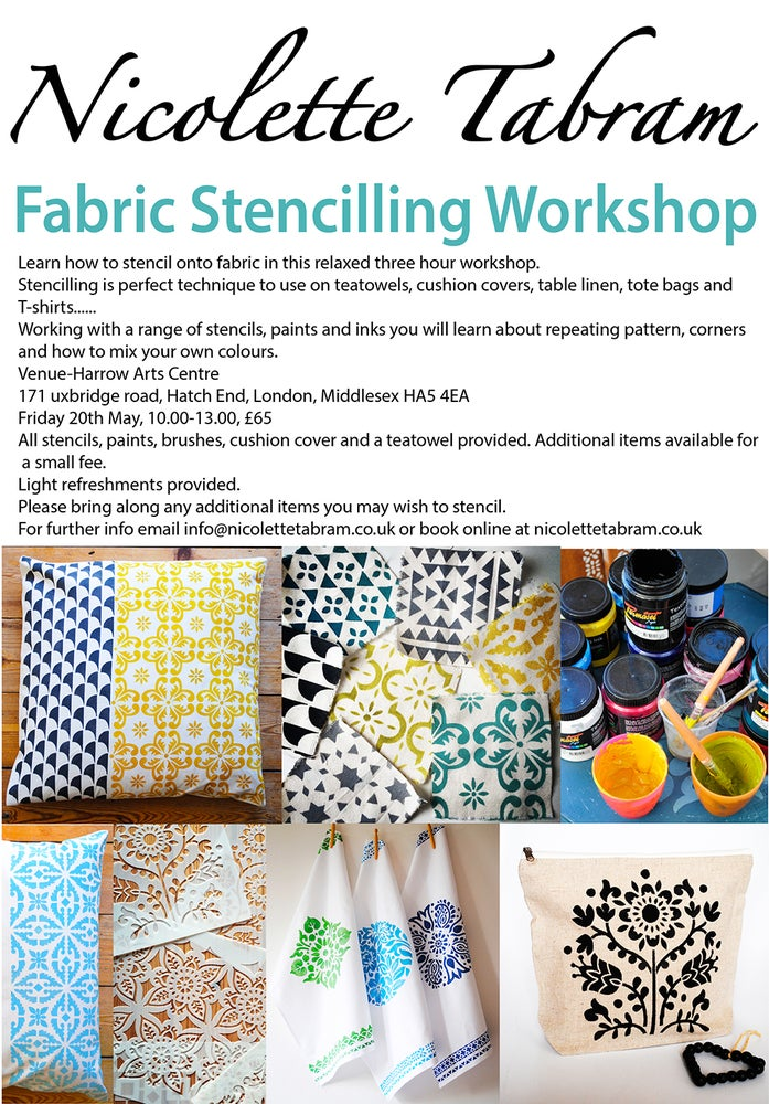 Image of Fabric Stencil Workshop