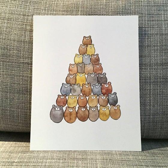Image of bear pile print