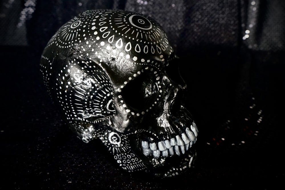 Image of ☠ Black Skull Custom Piece ☠