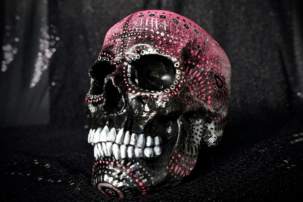 Image of ☠ Black & Pink Custom Skull Piece ☠