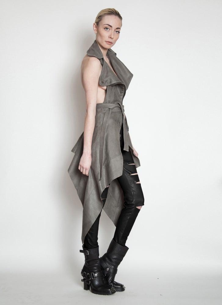 Image of FOX Leather Moto Waistcoat