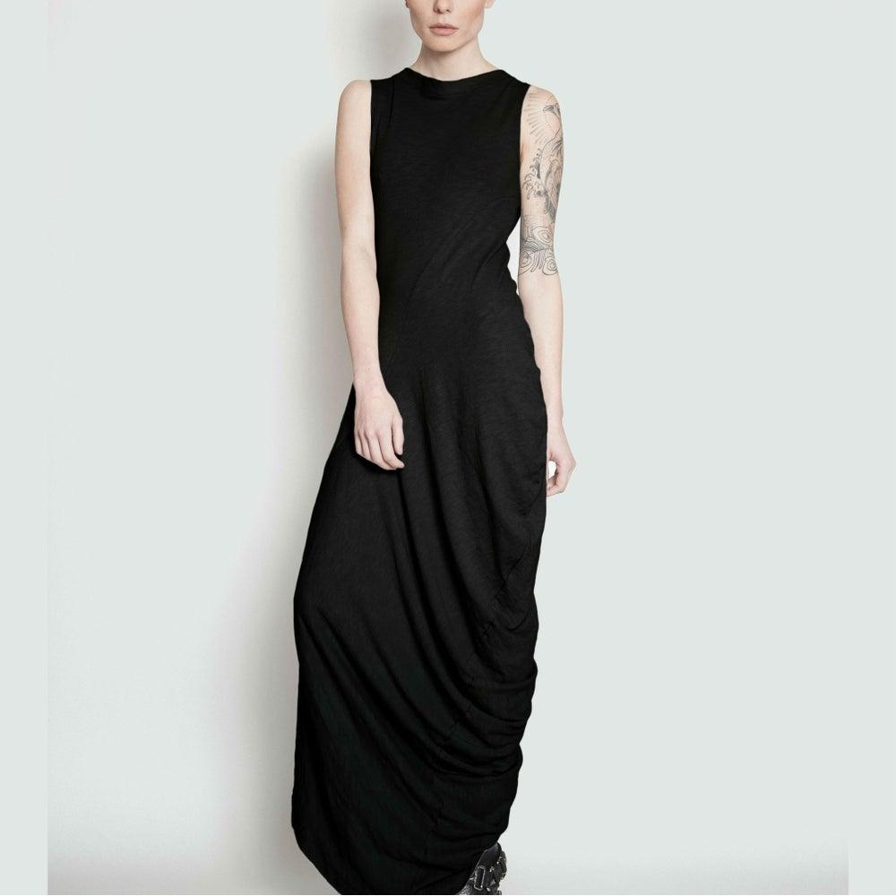 Image of TRAVERS twist drape maxi dress