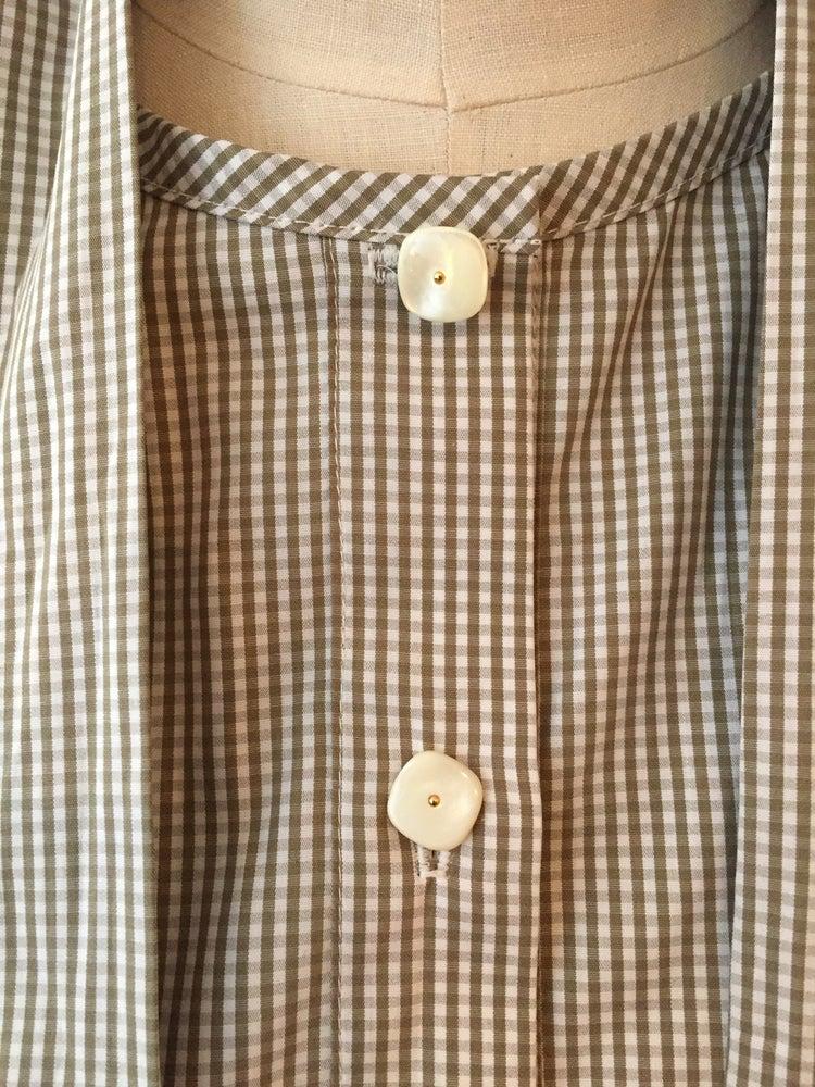 Image of Eliza tie neck shirt
