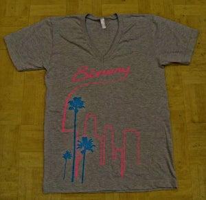 Image of Binary Grey V-Neck T-Shirt