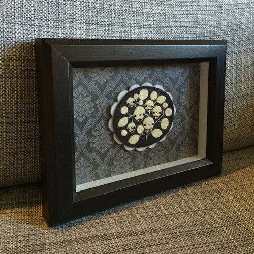 Image of skull cameo shadowbox no. 3