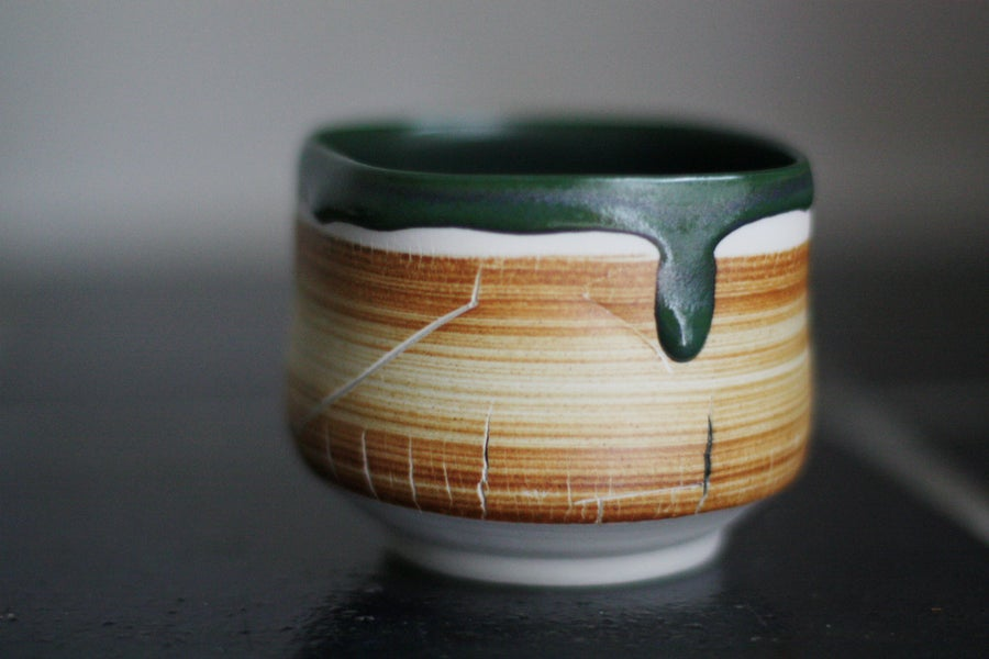 Image of Overcoming soul - porcelain tea bowl, matcha bowl, chawan