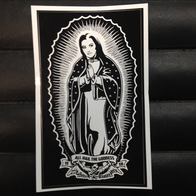 Image of Virgin Lily of Guadalupe Sticker