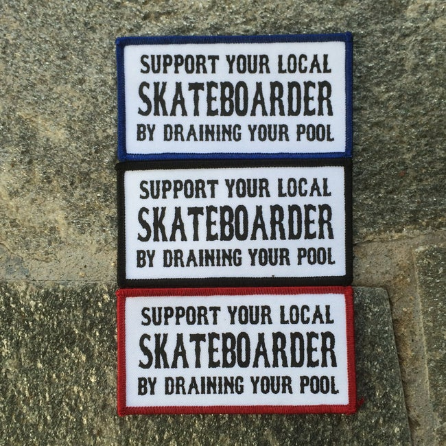 Image of Support Your Local Skateboarder Iron On Patch