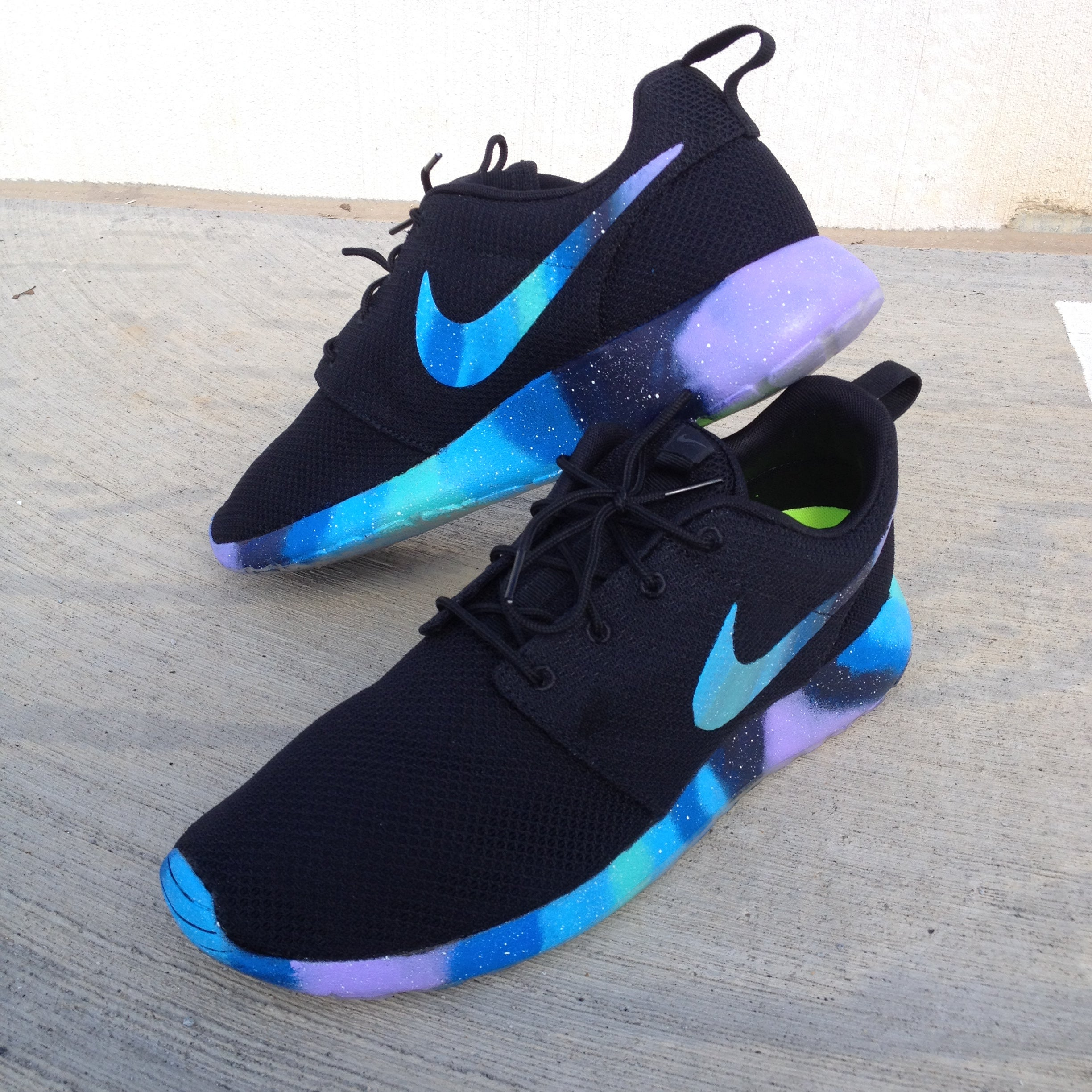 nike shoes roshe galaxy. image of custom nike roshe one \ shoes galaxy m