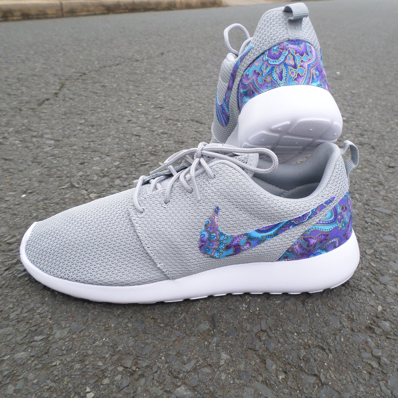 "Image of Custom Nike Roshe One ""Teal & Purple Paisley"""