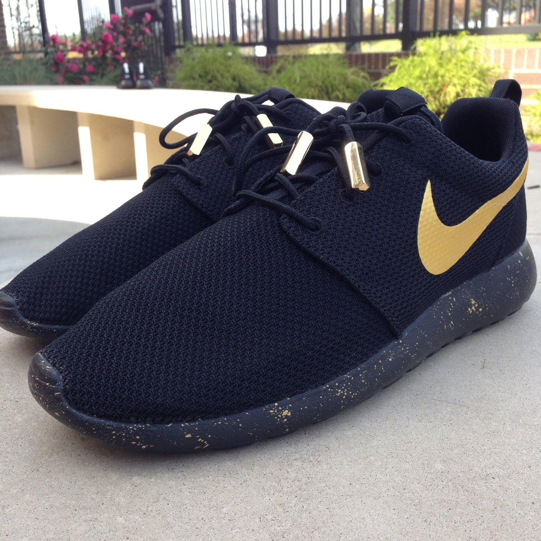 """Image of Custom Nike Roshe One """"Black & Gold"""""""
