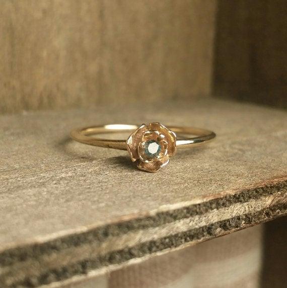 Image of Blue Diamond Ring
