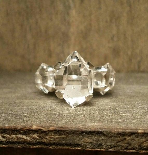 Image of Three Herkimer Ring