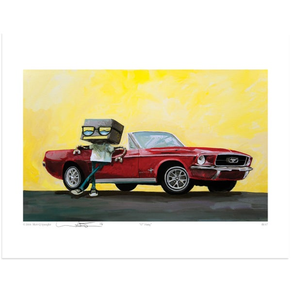 67' Stang Print - Matt Q. Spangler Illustration
