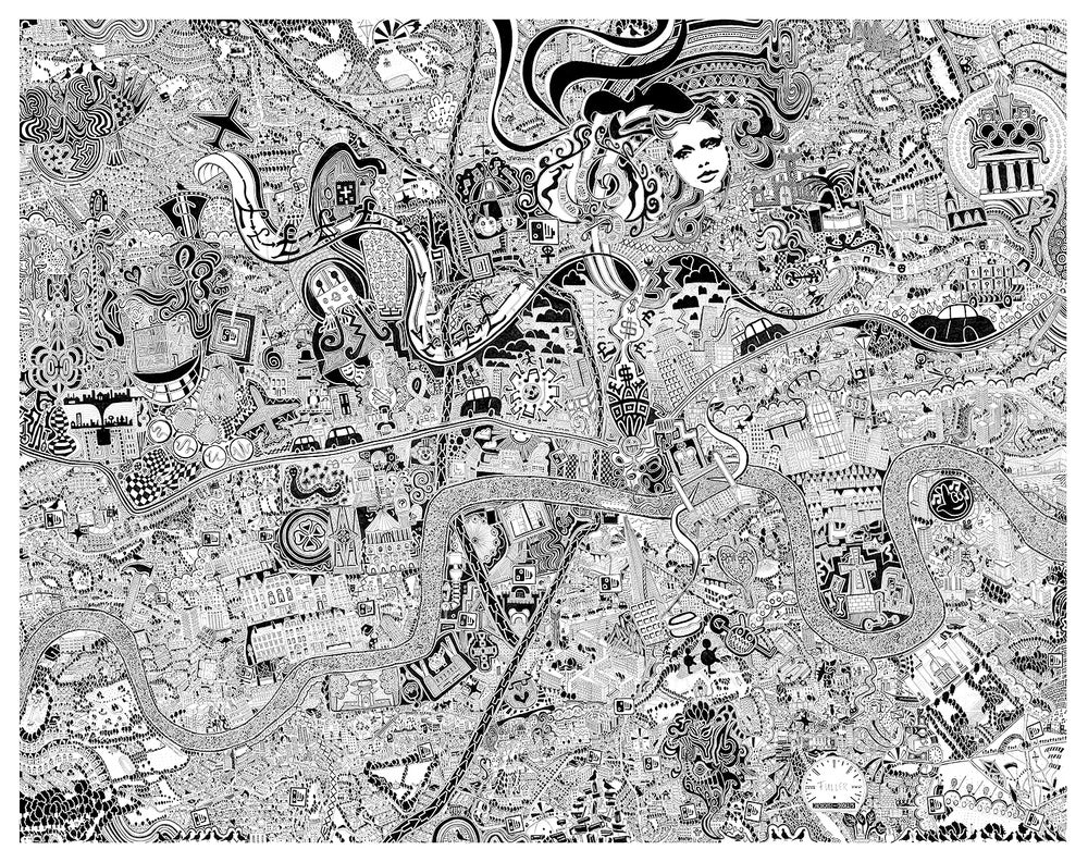 Image of 'London Town' hand finished