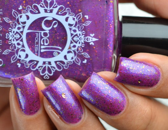 """Image of ~Glittering Owl~ violet flakie shimmer Spell nail polish """"Legends & Dreams""""!"""