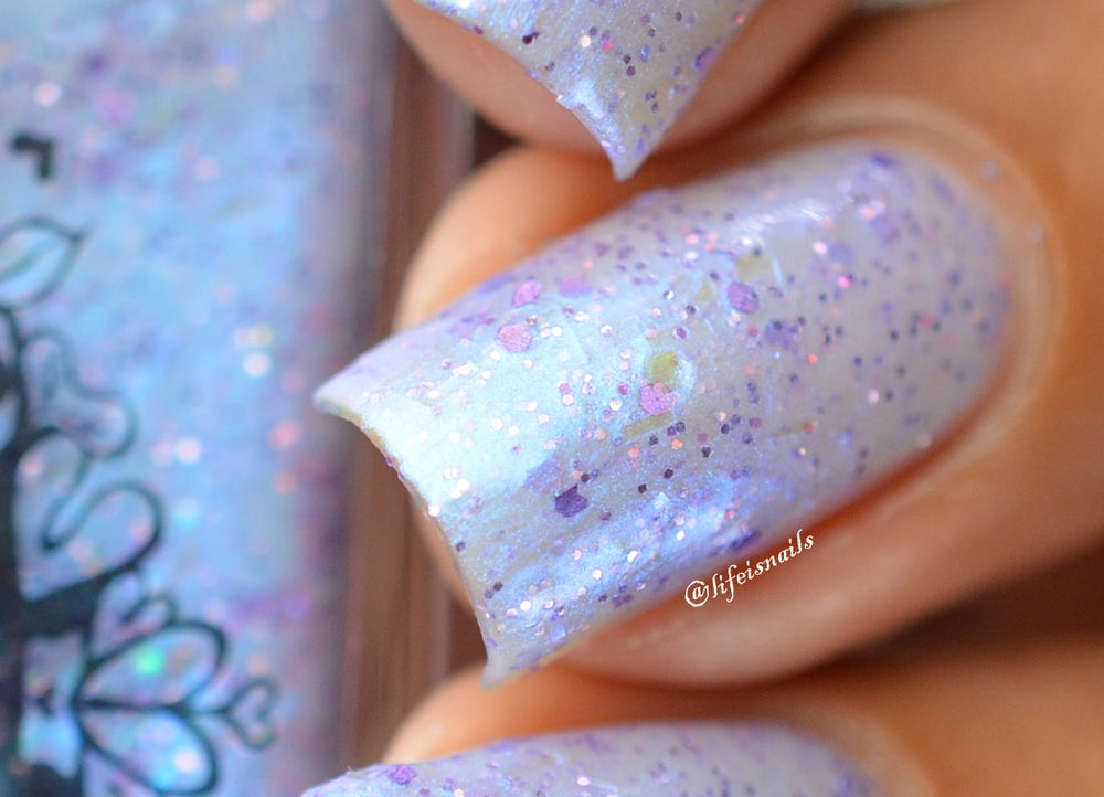 "Image of ~Bottling Moonbeams~ periwinkle blue glitter shimmer Spell nail polish ""Legends & Dreams""!"